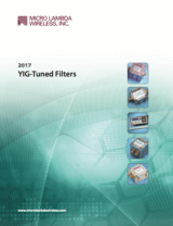 YIG filters product guide